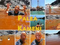 Palea Kameni Hot Spring in Santorini, Greece